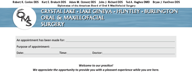 New OMS Forms